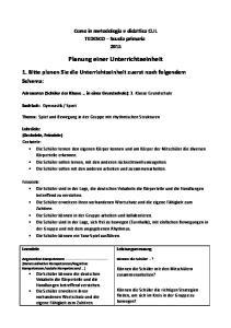 Planung einer Unterrichtseinheit