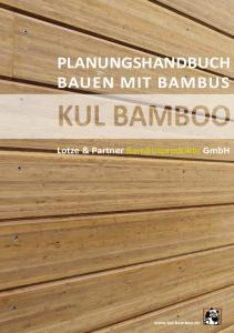 PLANUNGSHANDBUCH BAUEN MIT BAMBUS