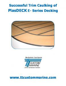 PlasDECK E- Series Decking