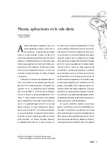 Plasma, aplicaciones en la vida diaria