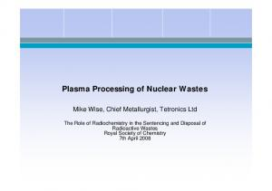 Plasma Processing of Nuclear Wastes