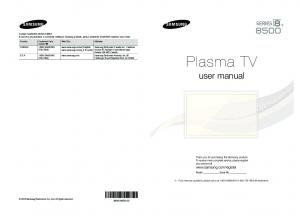 Plasma TV user manual