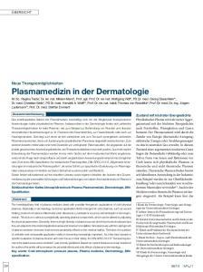Plasmamedizin in der Dermatologie