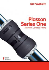 Plasson Series One. The New Compact Fitting