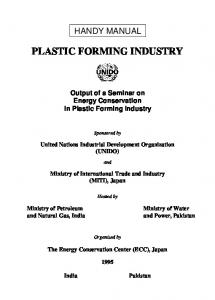 PLASTIC FORMING INDUSTRY
