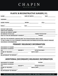 PLASTIC & RECONSTRUCTIVE SURGERY, P.C