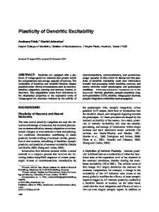 Plasticity of Dendritic Excitability