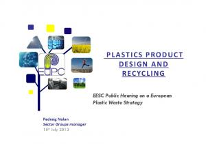 PLASTICS PRODUCT DESIGN AND RECYCLING