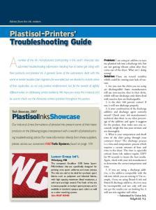 Plastisol-Printers Troubleshooting Guide
