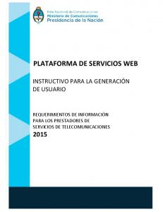 PLATAFORMA DE SERVICIOS WEB