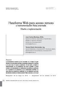 Plataforma Web para acceso remoto