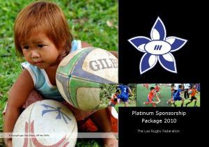 Platinum Sponsorship Package 2010