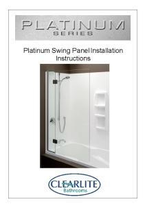 Platinum Swing Panel Installation Instructions