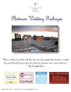 Platinum Wedding Packages