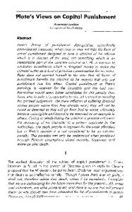 Plato's Views on Capital Punishment