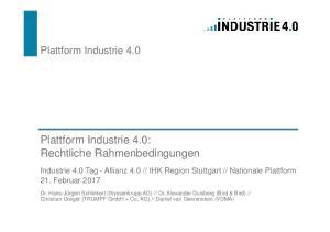 Plattform Industrie 4.0: Rechtliche Rahmenbedingungen