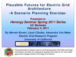 Plausible Futures for Electric Grid Architecture -A Scenario Planning Exercise-