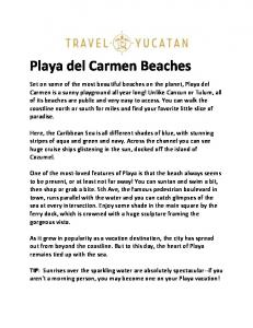 Playa del Carmen Beaches