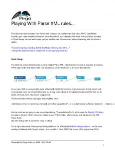 Playing With Parse XML rules