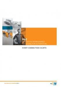 PLC INNOVATIVE INTERCONNECT SOLUTIONS FOR AUTOMATION