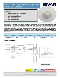 PLCC2 SMD Top View Package LED SMP2-GC, GREEN
