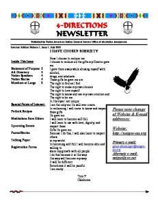 Please note change of Website &  addresses: Website:  Primary
