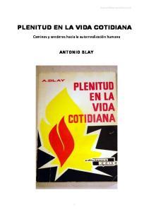 PLENITUD EN LA VIDA COTIDIANA