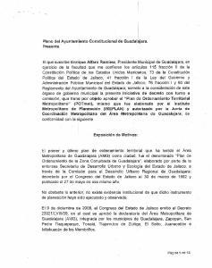 Pleno del Ayuntamiento Constitucional de Guadalajara. Presente