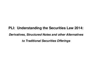 PLI: Understanding the Securities Law 2014: