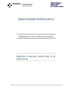 PLIEGO DE BASES TECNICAS (P.B.T.)