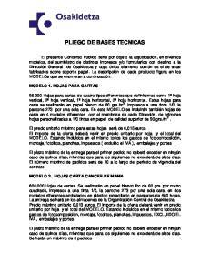PLIEGO DE BASES TECNICAS