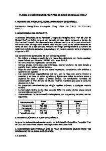 PLIEGO DE CONDICIONES IGP PAN DE CRUZ DE CIUDAD REAL