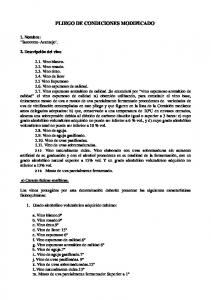 PLIEGO DE CONDICIONES MODIFICADO