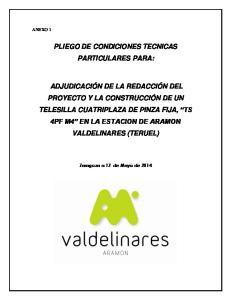 PLIEGO DE CONDICIONES TECNICAS PARTICULARES PARA: