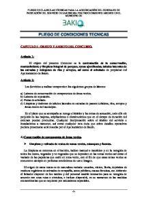 PLIEGO DE CONDICIONES TECNICAS