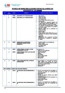 PLIEGO DE ESPECIFICACIONES TECNICAS (ANEXO 25) EXPEDIENTE: