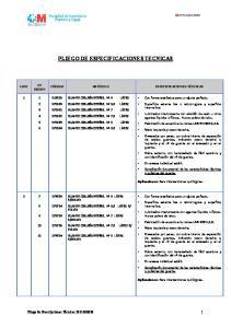 PLIEGO DE ESPECIFICACIONES TECNICAS