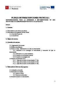 PLIEGO DE PRESCRIPCIONES TECNICAS :