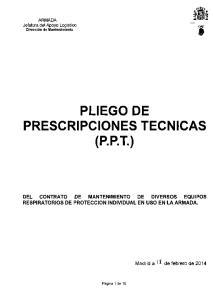 PLIEGO DE PRESCRIPCIONES TECNICAS (P.P.T.)