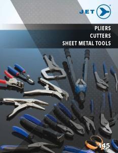 PLIERS CUTTERS SHEET METAL TOOLS