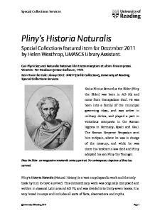 Pliny s Historia Naturalis