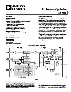 PLL Frequency Synthesizer ADF4106