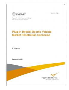 Plug-in Hybrid Electric Vehicle Market Penetration Scenarios