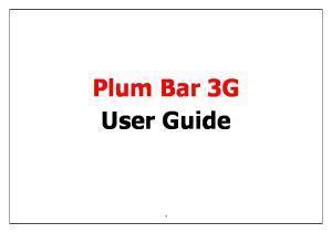 Plum Bar 3G User Guide