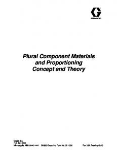 Plural Component Materials and Proportioning Concept and Theory