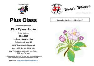 Plus Class. Plus Open House