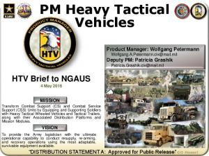PM Heavy Tactical Vehicles