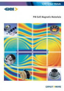 PM Soft Magnetic Materials