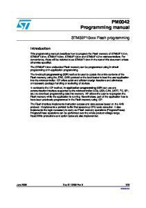 PM0042 Programming manual