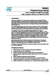 PM0051 Programming manual